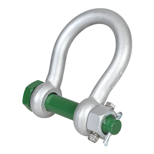 Read more details about our Green Pin Wide Jaw Shackle