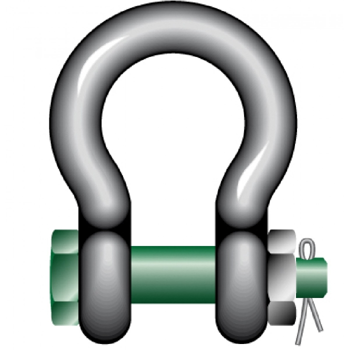 Read more details about our Green Pin Safety Bow Shackles