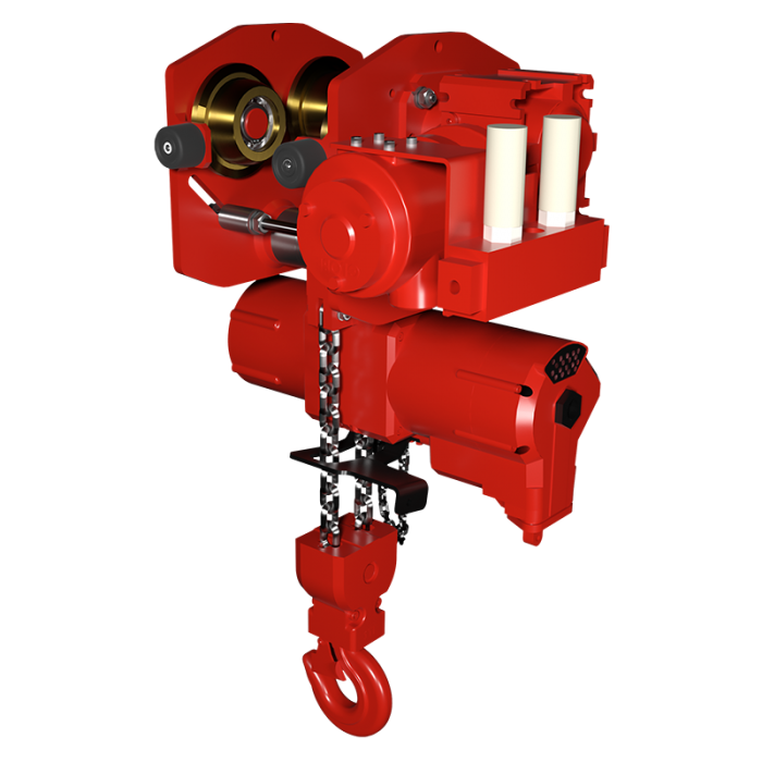 Read more details about our TCS- Lubrication Free Air Hoist and Trolley