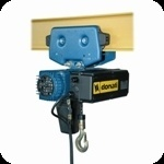 Image of Electric chain hoist with manual trolley