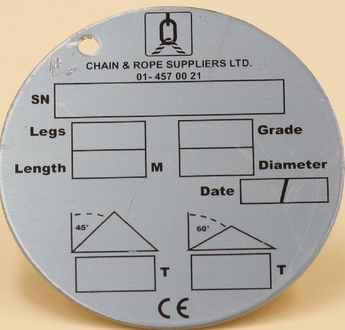 Image of Chain Identification Tags