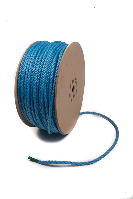 Image of Blue Poly Rope - Wooden Reel