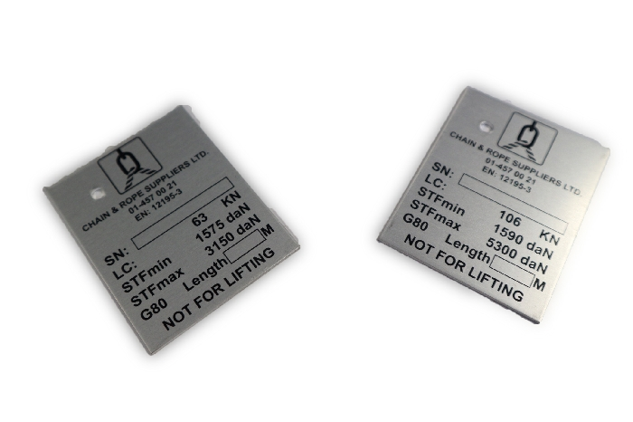 Image of 10mm & 13mm tiedown chain tag