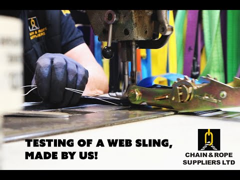 Testing of Web Slings